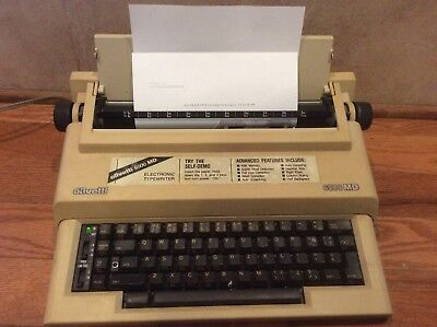 Olivetti 6500md Portable Electronic Typewriter. Tested Ribbon Works