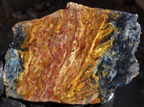 100% Brilliant Natural Pietersite Rough Slab Cabochon Material Loose Gemstones