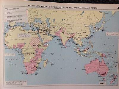 British & American Representation In Asia,1952, Mercantile Marine Atlas, Philip
