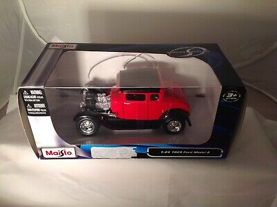 1929 Ford Model A Red 1:24 Scale Diecast By Maisto No. 31201 NIB
