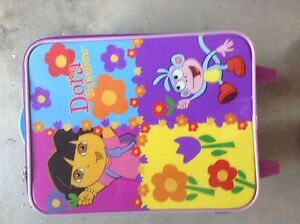 Dora,strawberry shortcake and Polly pocket suitcase