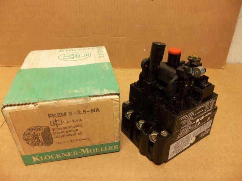 NEW KLOCKNER-MOELLER MANUEL MOTOR STARTER PKZM 3-2,5-NA 1,4-2,4A A AMP PKZM325NA