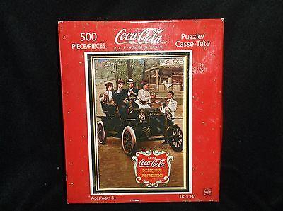 Coca-Cola 500 piece Puzzle - Friends Out For a Drive Picture