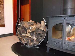 Wrought Iron Log Holder, log ring, log basket. wood burner.