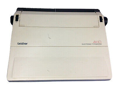 Brother Ax-10 Electronic Electric Typewriter Tested Works Clean