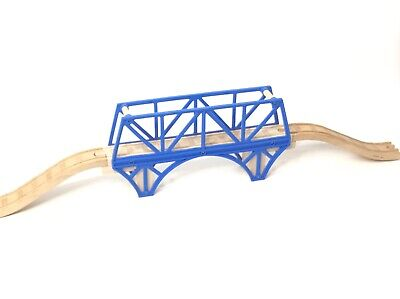 """Wooden Railway Thomas Train SODOR BAY BLUE BRIDGE From The """"At The Works"""" Set"""