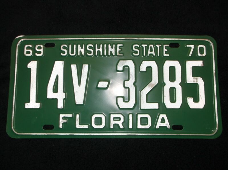 1969-1970 Florida License Plate
