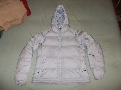 The North Face Nuptse Hooded Goose Down Parka TNF Coat Jacket Hoodie Puffer L XL Womens Hooded Nuptse Jacket