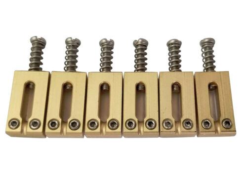 Guitar Bridge Saddles Solid Brass 10.50/10.80/11.30mm for Fender Strat / Tele