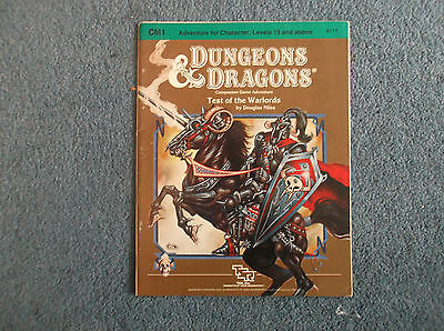 Dungeons & Dragons Module Test of the Warlords