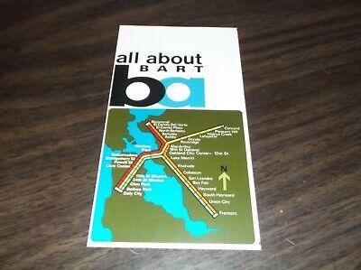 1972 BART SYSTEM METRO SAN FRANCISCO MAP TRANSPORTATION GUIDE Metro Transit Map