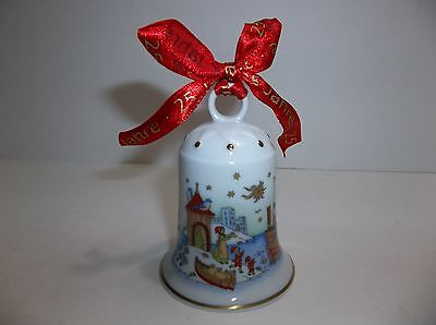 Hutschenreuther Porcelain Bell Christmas Ornament 2002 Ole Winther