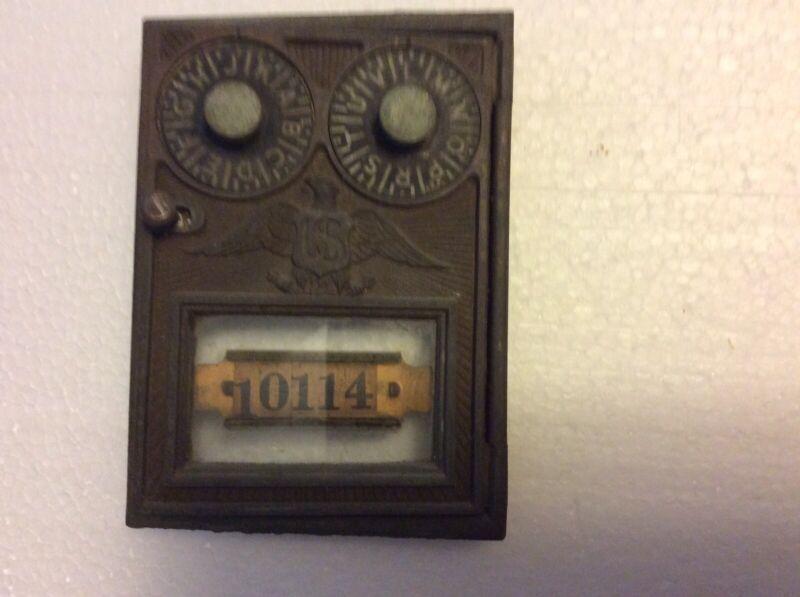Vintage Corbin Brass Post Office Mailbox Twin Dial Door