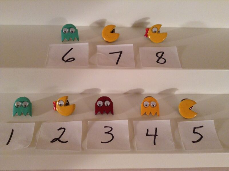Vintage Lapel Tie Tack Pacman Pins. Your Choice 3 For $13.50