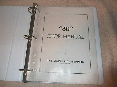Original Oliver 60 Tractor Shop Service Manual