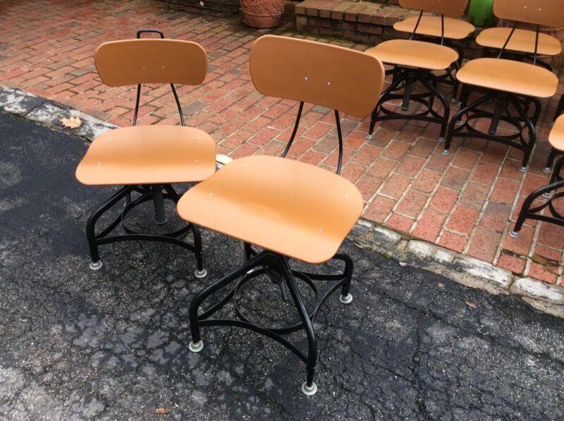 "One Vintage TOLEDO Drafting Stool - Seat Adjusts 14"" To 18""  - Very Nice"