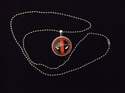 Deadpool Cabochon Pendant w/Chain