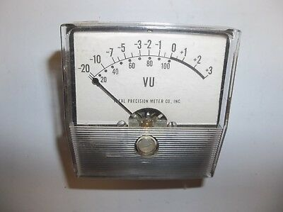 Vintage Ideal Precision Meter Co. Vu Meter