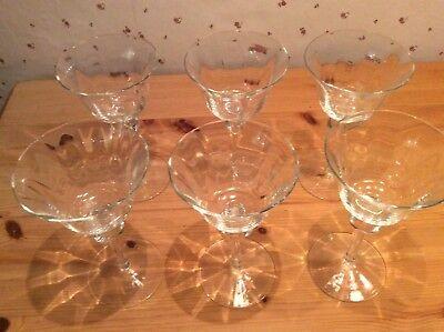 ailgläser / Martinigläser 6 Stück (Retro Martini-gläser)
