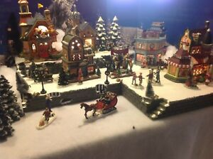christmas village display platform for lemax dept56 sns village