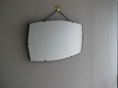 30s ART DECO VINTAGE FRAMELESS WALL MIRROR