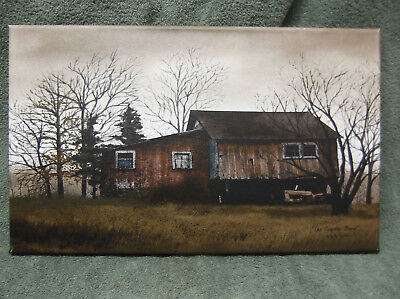 PRIMITIVE Look Tractor Barn Farm Canvas Wall Decor Billy Jacobs New for sale  Shipping to India