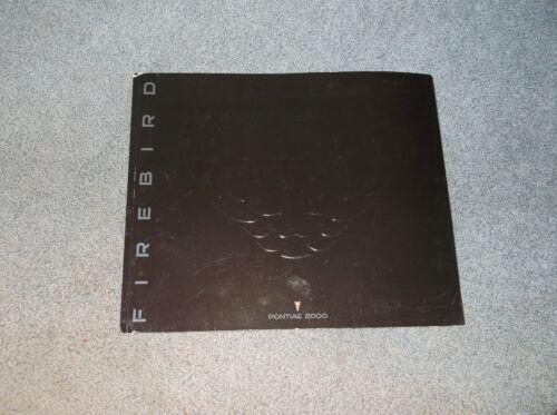 2000 Pontiac Firebird Brochure