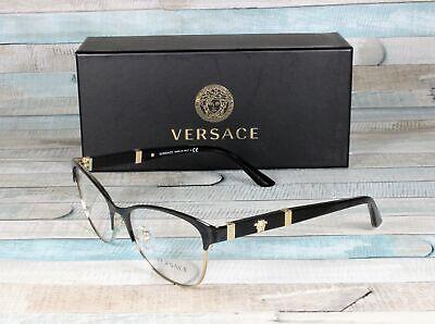 VERSACE VE1233Q 1366 Black Pale Gold Demo Lens 53 mm Women's (Versace Ladies Glasses)