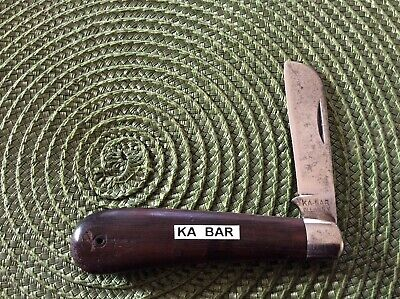 "EARLY ANTIQUE KA-BAR HAWKBILL PRUNER POCKET KNIFE 3 7/8"", 1923-1951"