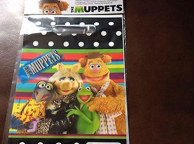 Neu Disney The Muppets 6 Stück Packung Party Taschen Kermit Miss Piggy Gonzo ()