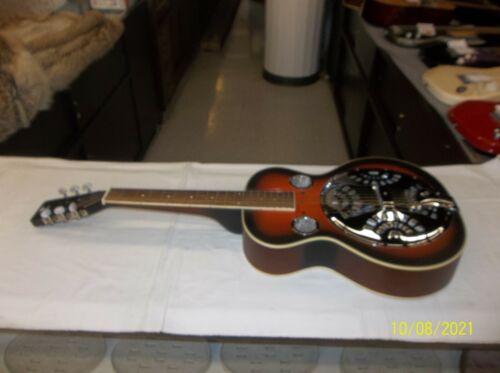 Danville Square Neck Dobro Resonator Guitar - Sunburst - with chipboard case