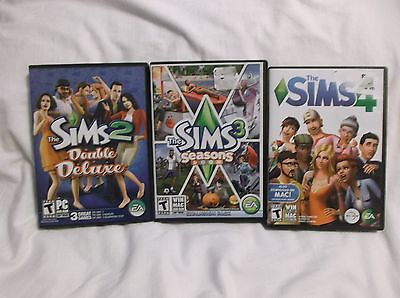 The Sims 2 Double Deluxe  Sims 3 Seasons Ex  Pack  Sims 4   Complete With Codes
