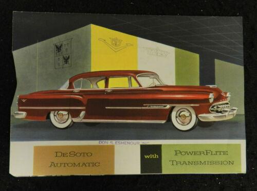 1954 DESOTO AUTO CAR SALES BROCHURE