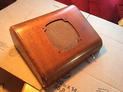 "Vintage RCA 8"" PA Wall Speaker In Original Large Wood Cabinet - Very Good"