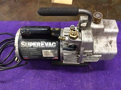 Yellow Jacket 93560 Superevac 2 Stage Hvac Vacuum Pump 6 Cfm 115v60hz - Tested
