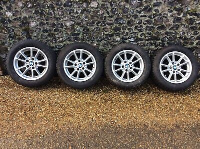 Set Of BMW 1 or 3 Series Alloy Wheels With Winter Tyres 225/55 R16
