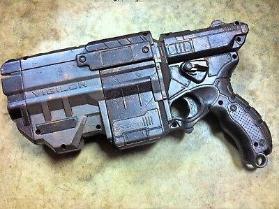 Custom Painted & WEIGHTED (32 oz.) NERF VIGILON Cosplay Steampunk Mad Max Gun