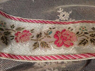 Recycled Sari silk ribbon Pastel Purple 132