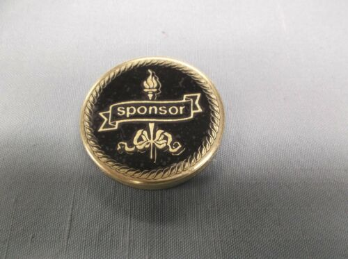 "sponsor black metal insert 2 "" diameter lot of 9 trophy parts"