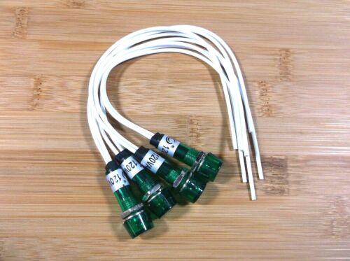 4 BBT 120 v Waterproof Green LED Hi-Profile Indicator Lights