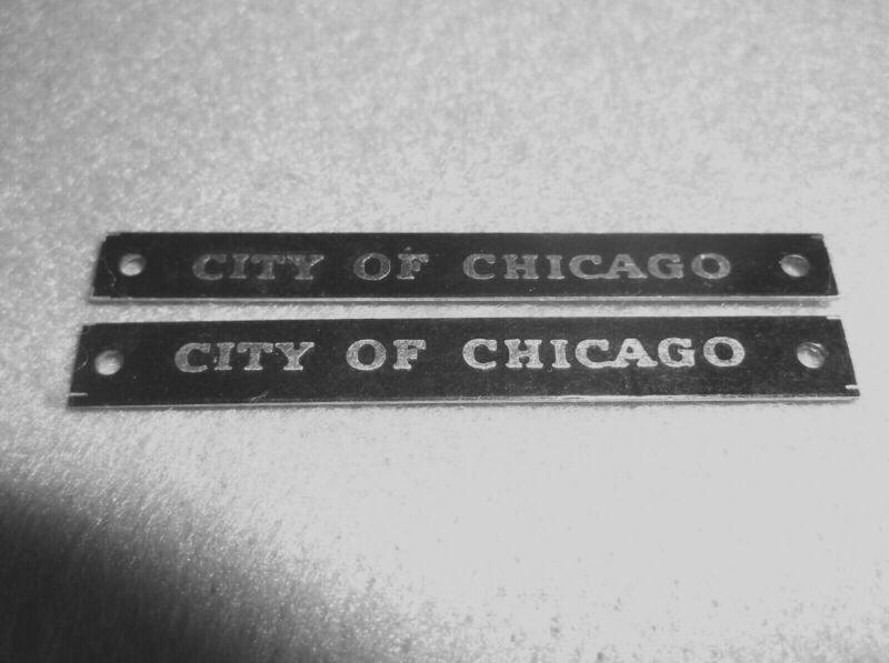 Pennsylvania AMT Auburn Kusan train nameplate City of Chicago passenger O gauge