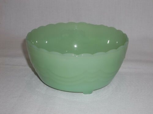 Fire King Anchor Hocking Jadeite Footed, Bulb Bowl