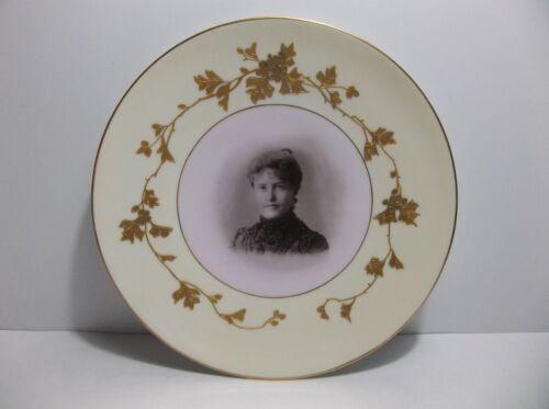 "Vintage Carlsbad Austria PORTRAIT Plate 9"" Gold Gilt"