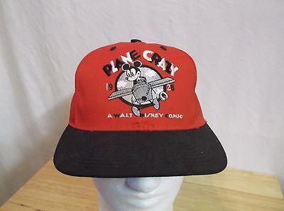 Vtg PLANE CRAZY Walt Disney Comic Snapback Hat Disney Store Exclusive Mickey W@W - Crazy Hat Store
