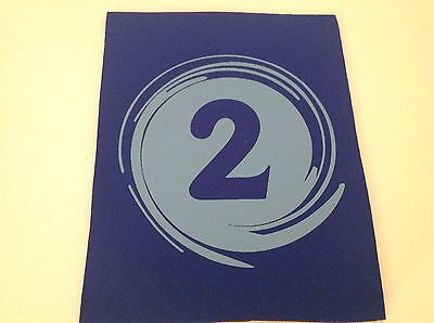 """Neoprene Sewing Patch Number 2 Swirl Royal Blue Rectangle 8"""" x 6"""" Soft"""