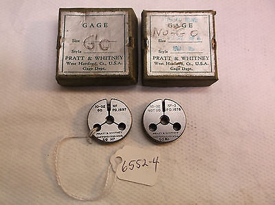 Thread Ring Gages Go No-go No. 10 - 32 Nf Pratt Whitney Made In Usa