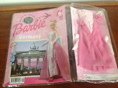 Discover The World With Barbie Germany  #9 Barbie Outfit & Magazine 2002 Sealed