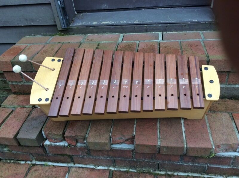 Primary Sonor AXP-1 Wood 13 Bar Xylophone W / 2 Mallets - Very Nice
