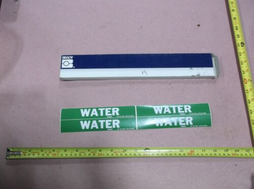 """WATER"", Pipe Marker, 1-1/8""H, 7""W (19 sheets, 4 stickers per sheet)"