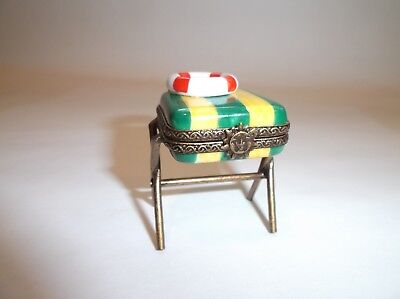 Beach Chair LImoges Box From Paris France